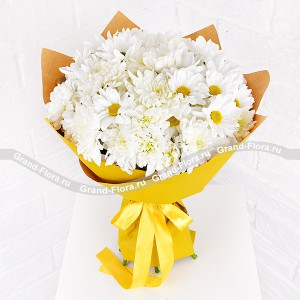 Gentle recognition - bouquet of chrysanthemums